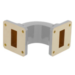 WR-112 Waveguide E-Bend Commercial Grade Using UG-51/U Flange With a 7.05 GHz to 10 GHz Frequency Range