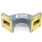 WR-112 Waveguide H-Bend Commercial Grade Using UG-51/U Flange With a 7.05 GHz to 10 GHz Frequency Range