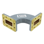 WR-137 Waveguide H-Bend Commercial Grade Using CPR-137G Flange With a 5.85 GHz to 8.2 GHz Frequency Range