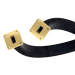 WR-62 Twistable Flexible Waveguide in 36 Inch Using UG-1665/U Square Cover Flange With a 12.4 GHz to 18 GHz Frequency Range