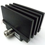 RF Load 50 Watts To 18 GHz Black Anodized Aluminum Heatsink N Female