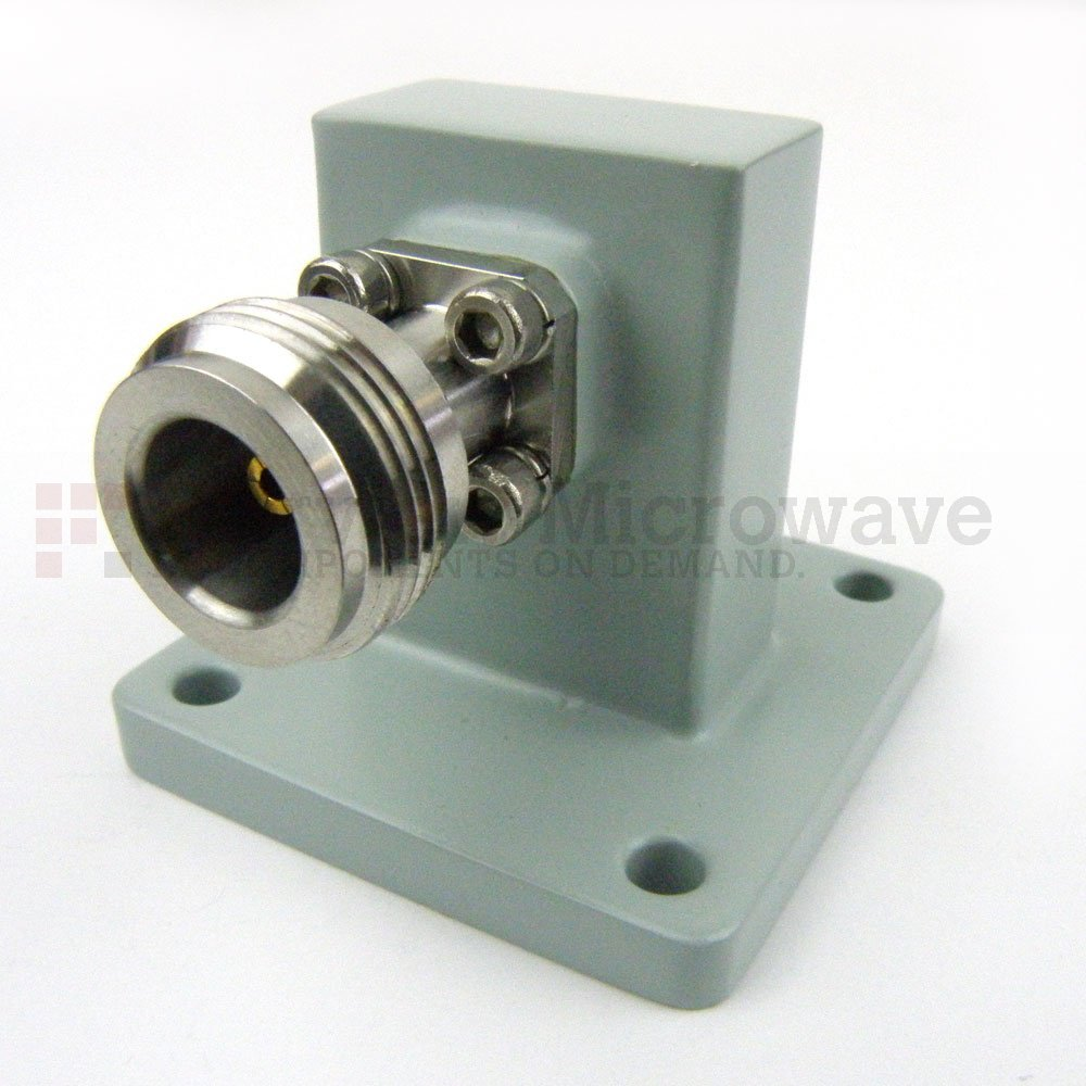 WR-90 to N Female Waveguide to Coax Adapter UBR100 Flange With 8.2 GHz to 12.4 GHz Frequency Range For X Band