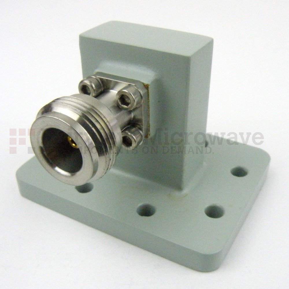 WR-90 to N Female Waveguide to Coax Adapter UDR100 Flange With 8.2 GHz to 12.4 GHz Frequency Range For X Band