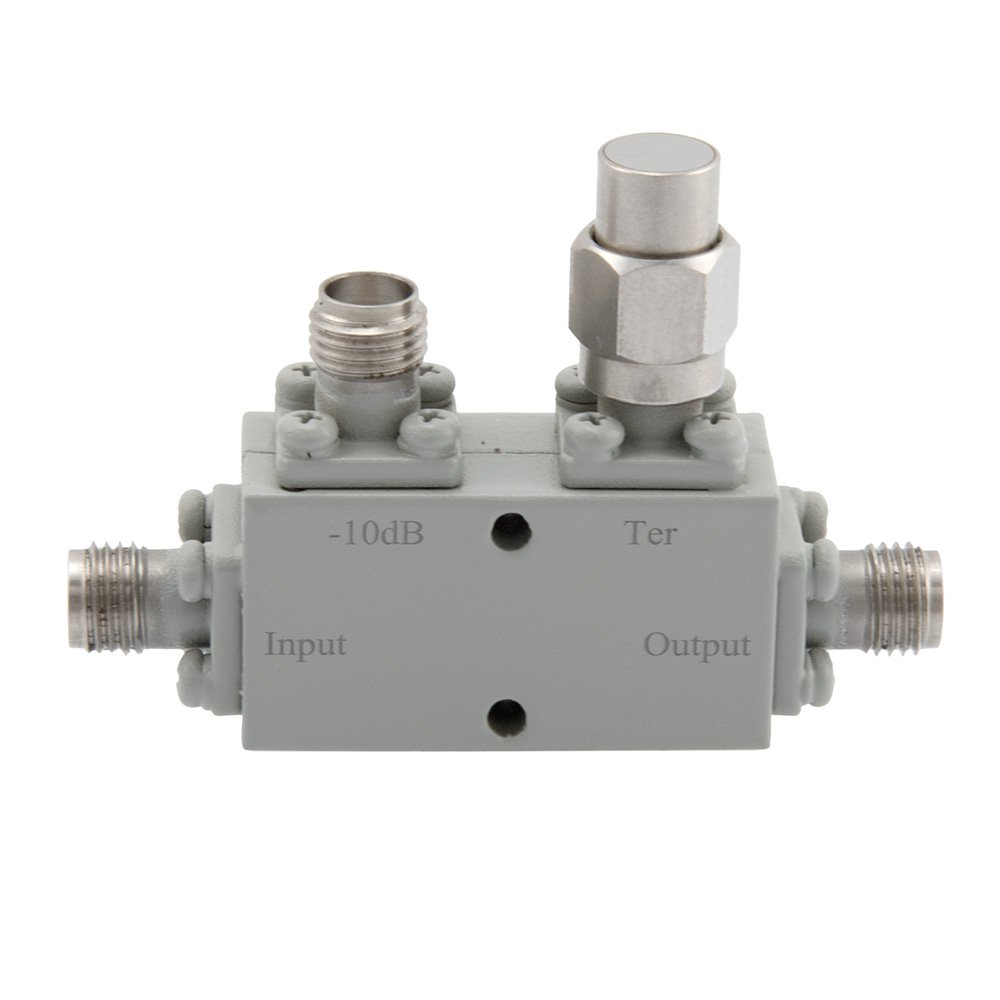 SMA Directional Coupler 10 dB 6 GHz to 26.5 GHz Rated to 30 Watts