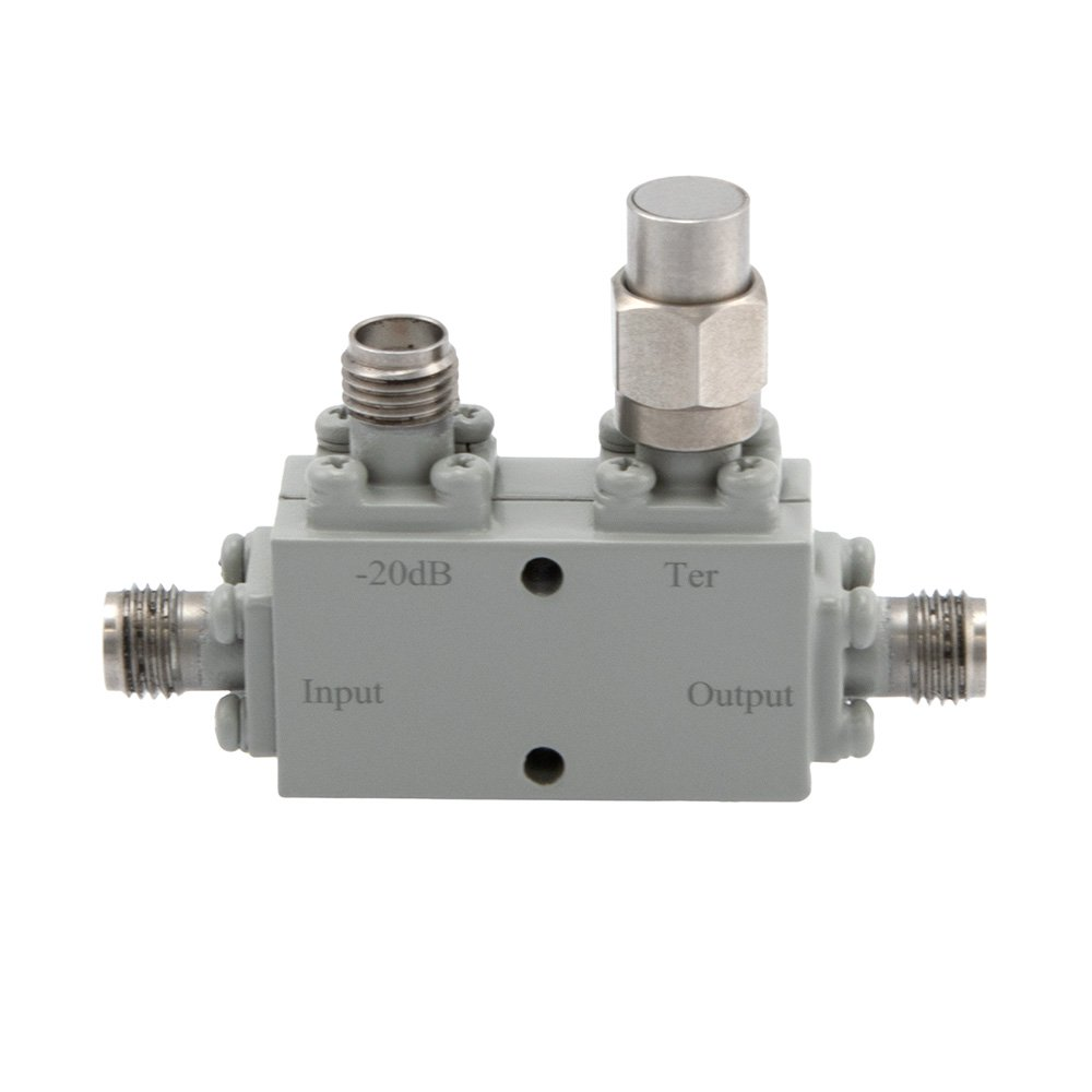 SMA Directional Coupler 20 dB 6 GHz to 26.6 GHz Rated to 30 Watts