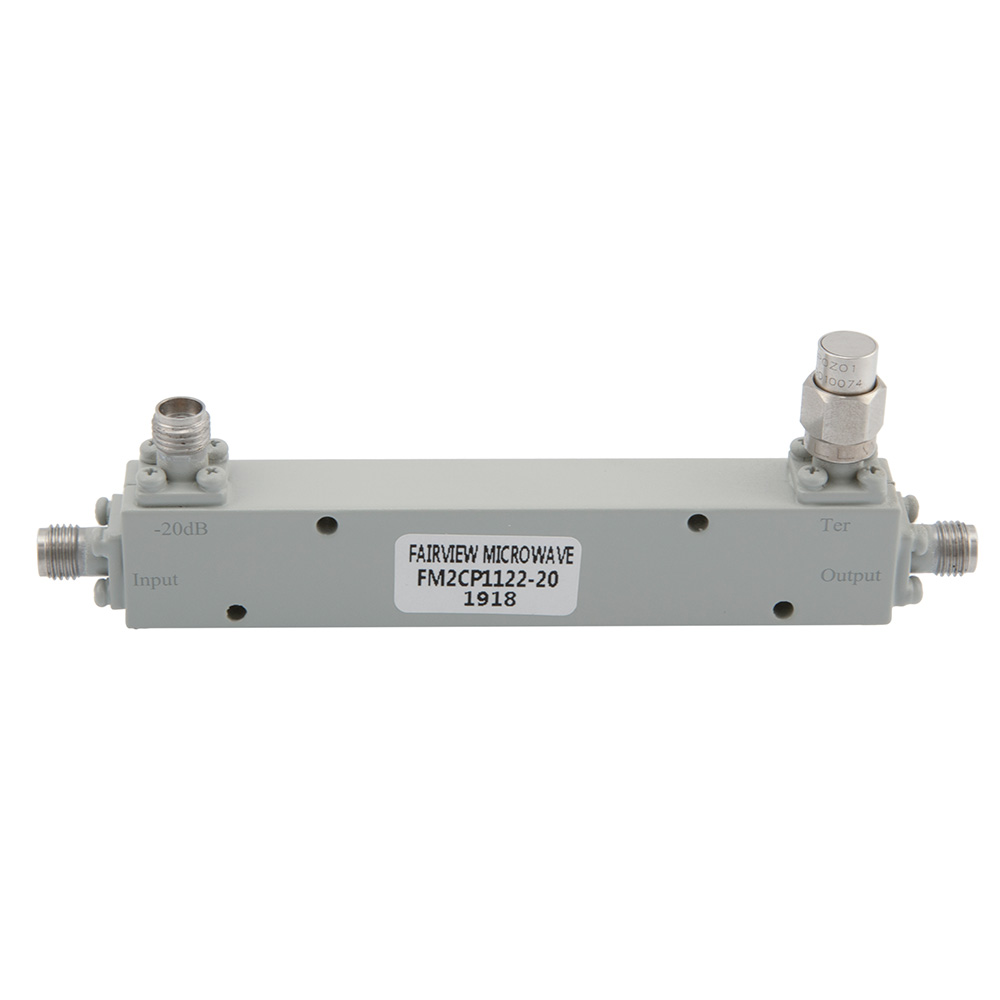 2.92mm Directional Coupler 20 dB 1 GHz to 40 GHz Rated to 30 Watts