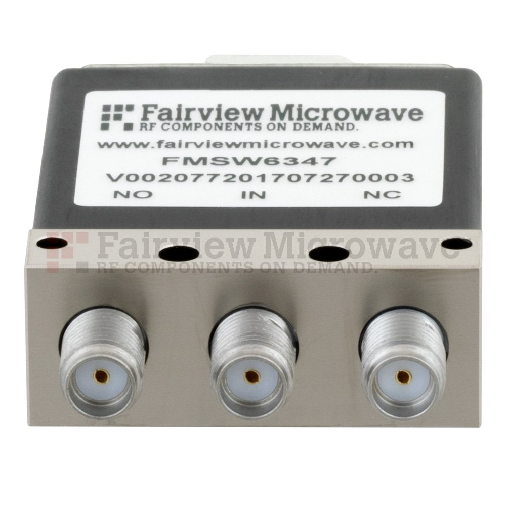 SPDT Failsafe DC to 18 GHz Electro-Mechanical Relay Switch, up to 90W, 12V, SMA