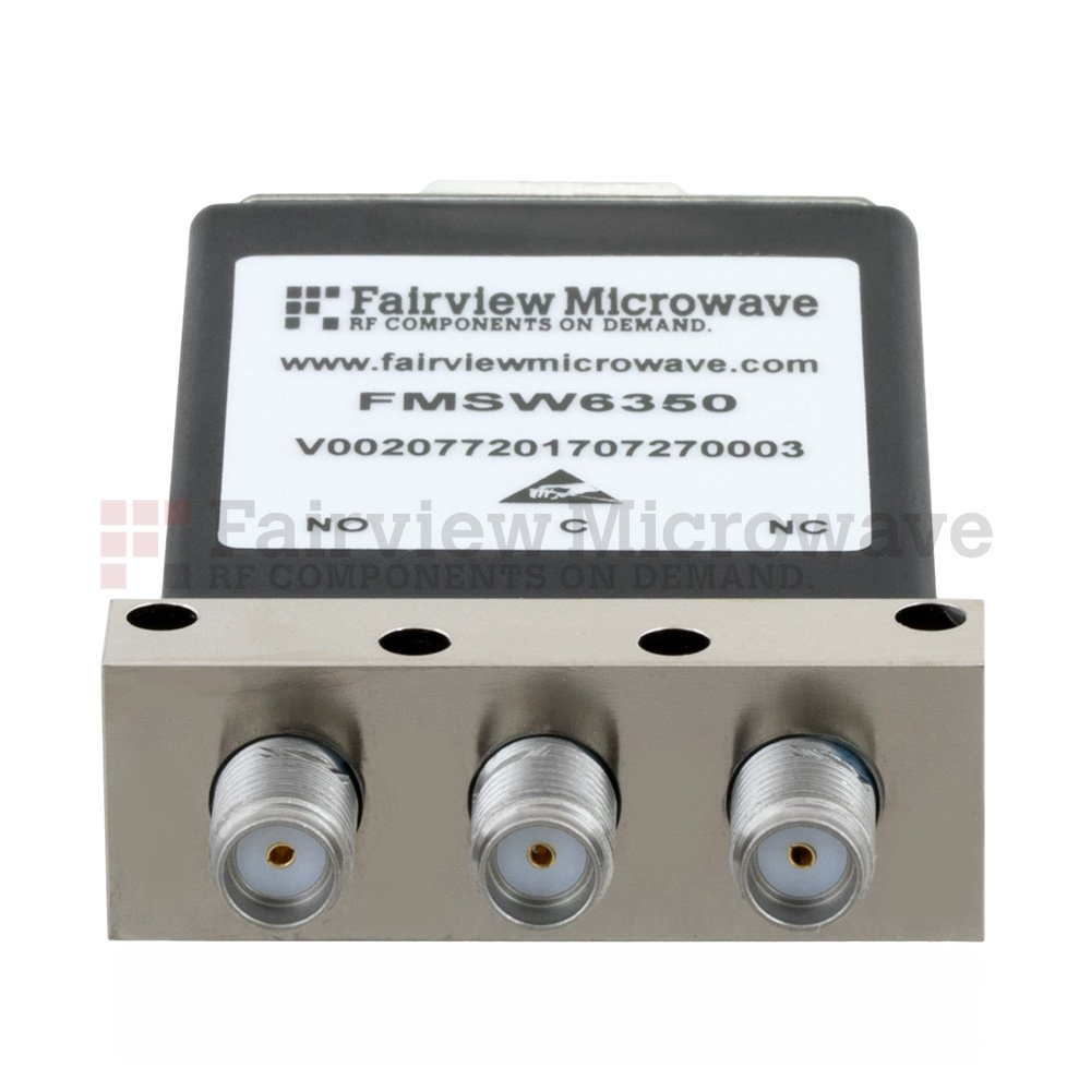 SPDT Failsafe DC to 18 GHz Electro-Mechanical Relay Switch, TTL, up to 90W, 12V, SMA