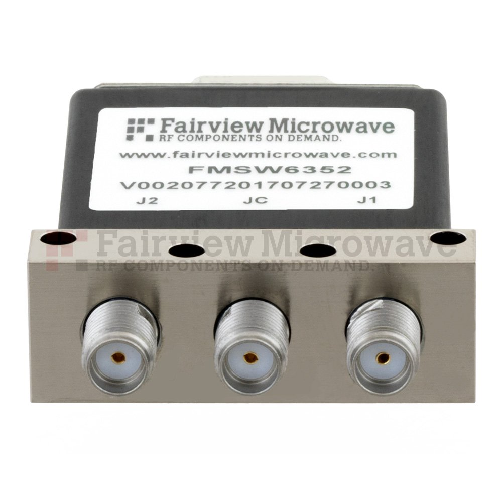 SPDT Latching DC to 18 GHz Electro-Mechanical Relay Switch, up to 90W, 12V, SMA