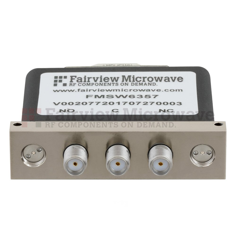 SPDT Failsafe DC to 26.5 GHz Terminated Electro-Mechanical Relay Switch, up to 90W, 28V, SMA