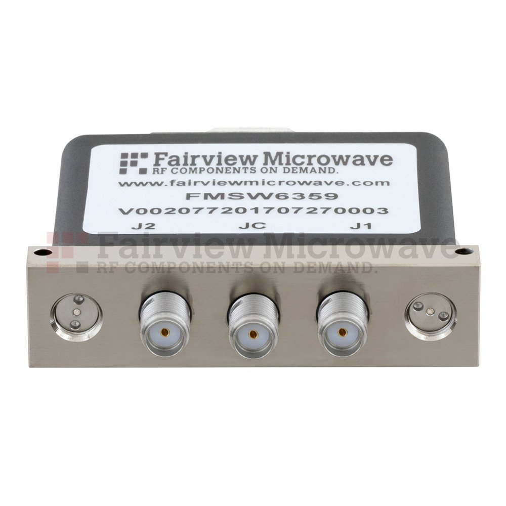 SPDT Latching DC to 18 GHz Terminated Electro-Mechanical Relay Switch, up to 90W, 28V, SMA