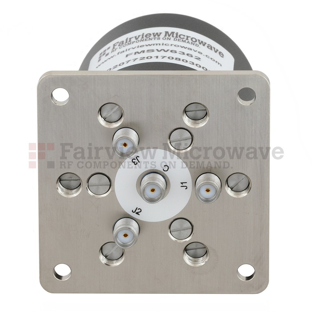 SP3T Latching DC to 18 GHz Electro-Mechanical Relay Switch, up to 90W, 28V, SMA