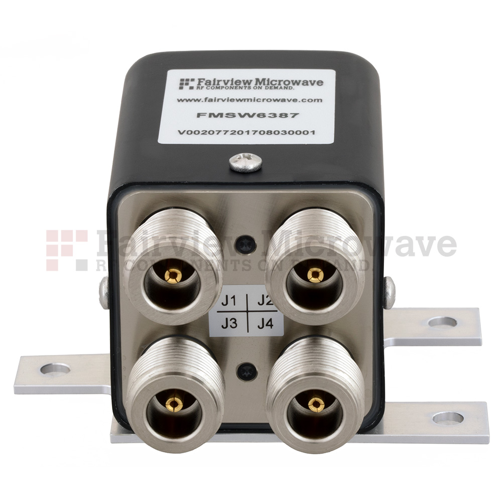 Transfer Latching DC to 12 GHz Electro-Mechanical Relay Switch, up to 430W, 12V, N