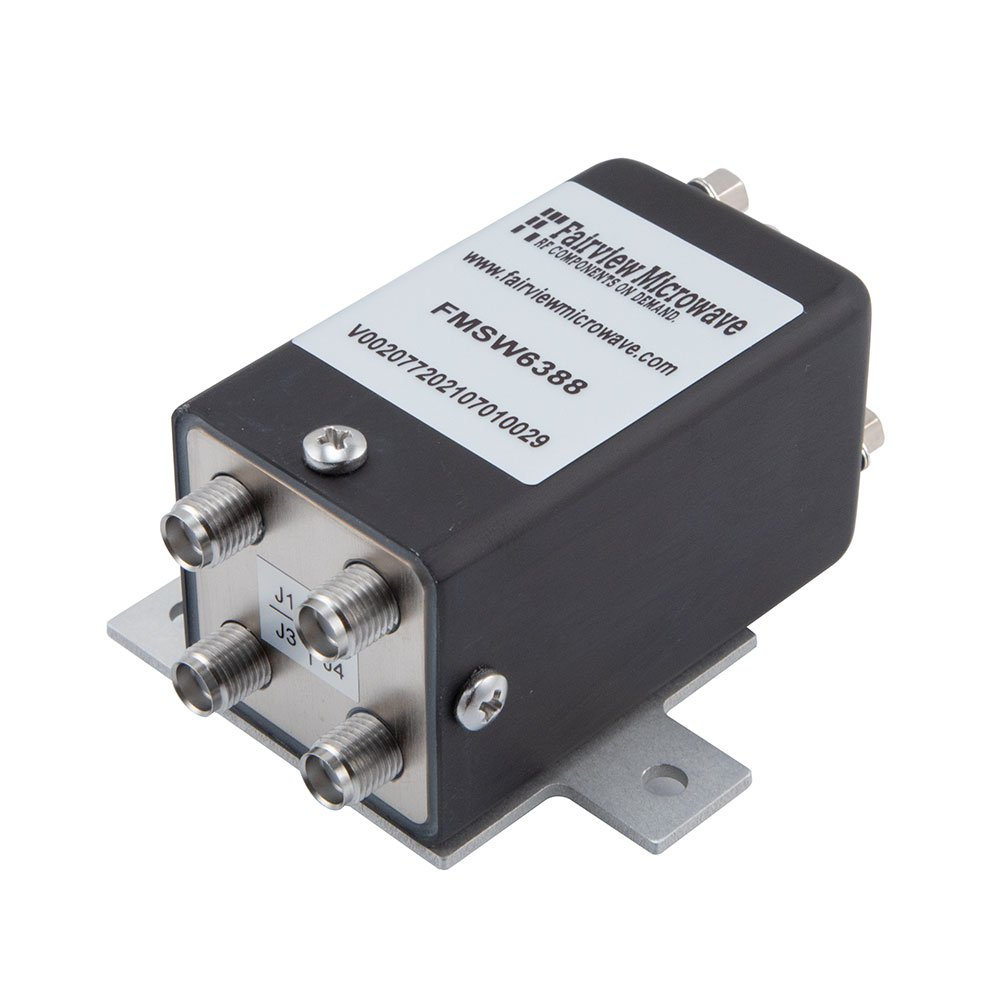 Transfer Failsafe DC to 18 GHz Electro-Mechanical Relay Switch, up to 90W, 12V, SMA