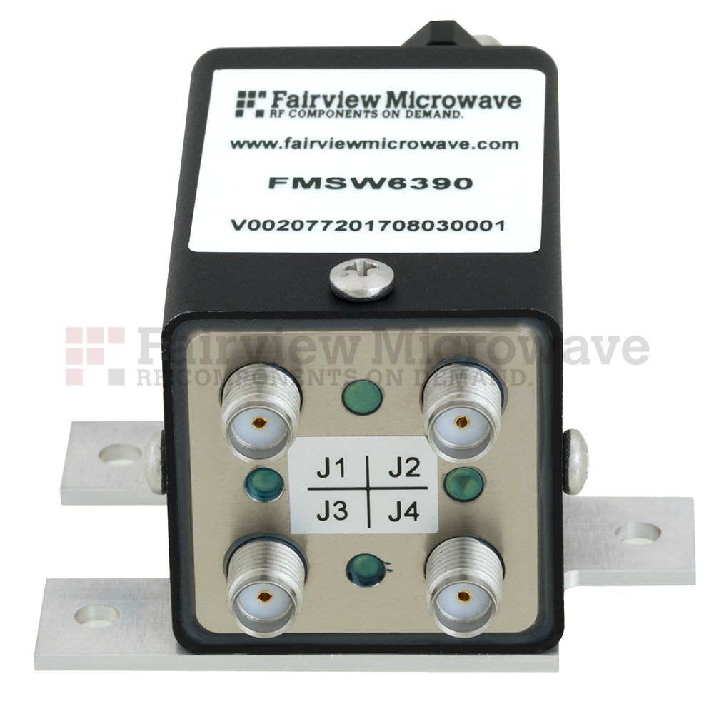 Transfer Latching DC to 12 GHz Electro-Mechanical Relay Switch, up to 90W, 12V, SMA