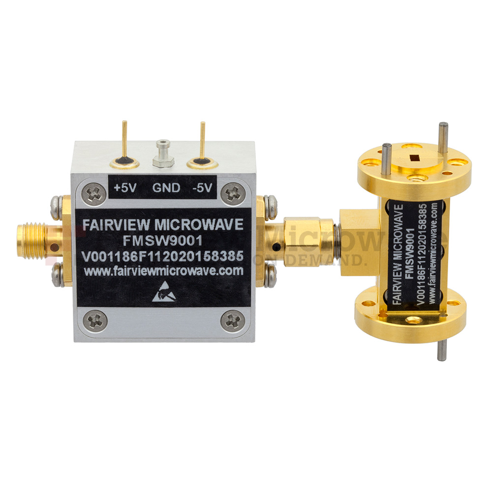 WR-12 Waveguide PIN Diode SPST Switch 60 GHz to 90 GHz Frequency Range E Band Using a UG-387/U Flange