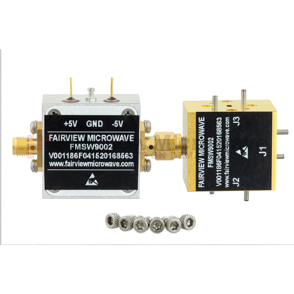 WR-12 Waveguide PIN Diode SPDT Switch 60 GHz to 90 GHz Frequency Range E, V Band Using a UG-387/U Flange