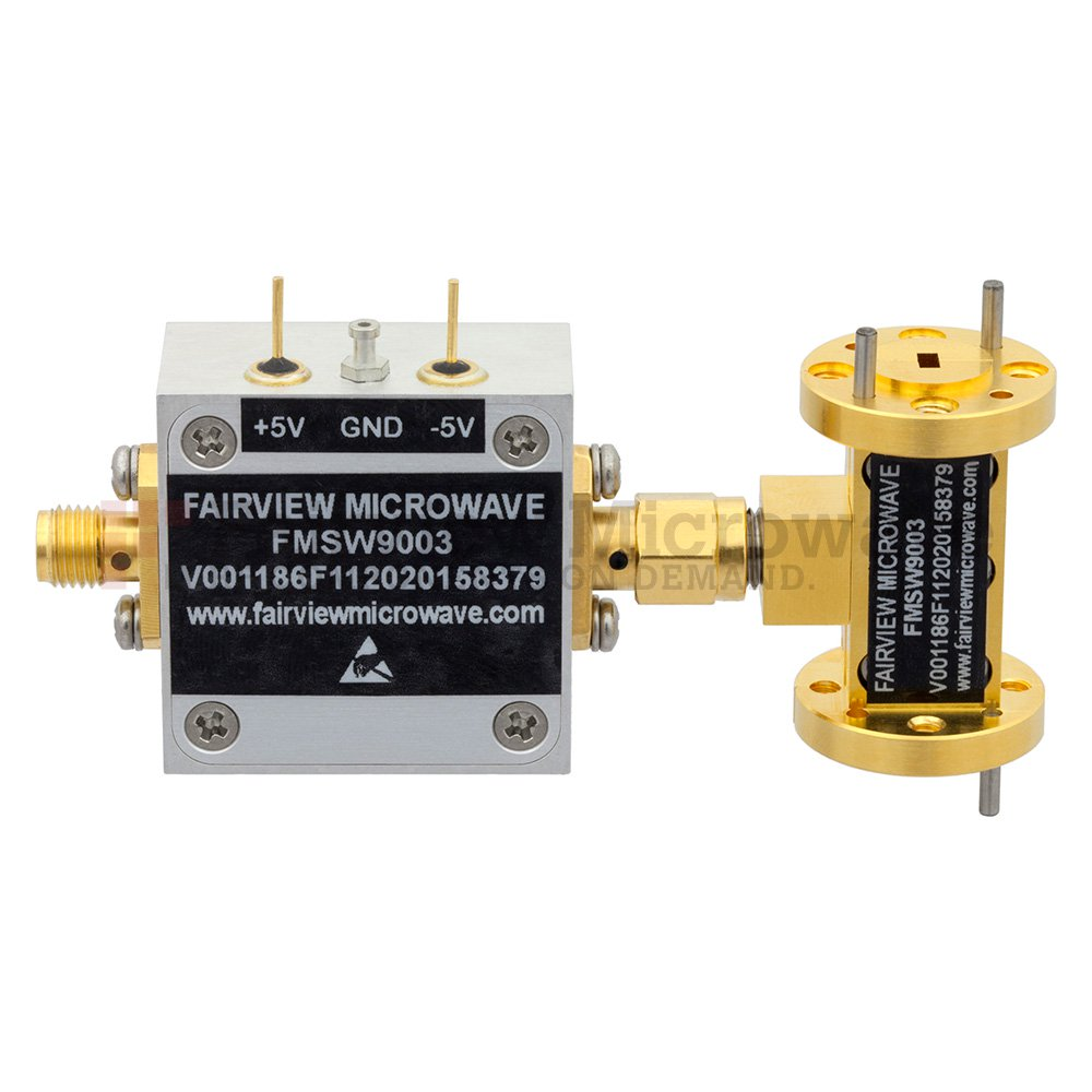 WR-10 Waveguide PIN Diode SPST Switch 75 GHz to 110 GHz Frequency Range W Band Using a UG-387/U Flange