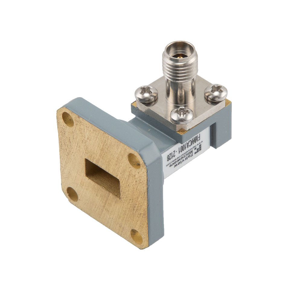 WR-34 to 2.92mm Female Waveguide to Coax Adapter UG-1530/U Square Cover Flange With 22 GHz to 33 GHz Frequency Range