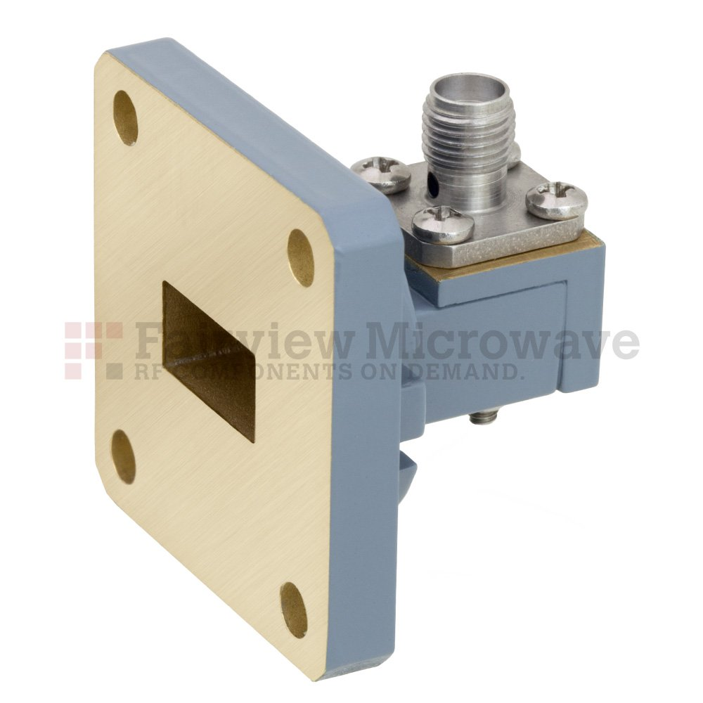 WR-51 to SMA Female Waveguide to Coax Adapter Square Cover Flange With 15 GHz to 22 GHz Frequency Range For N Band