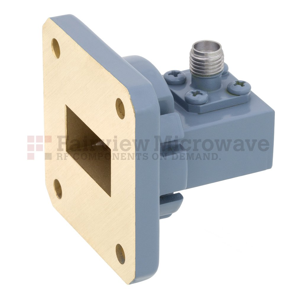 WR-75 to SMA Female Waveguide to Coax Adapter Square Cover Flange With 10 GHz to 15 GHz Frequency Range For M Band