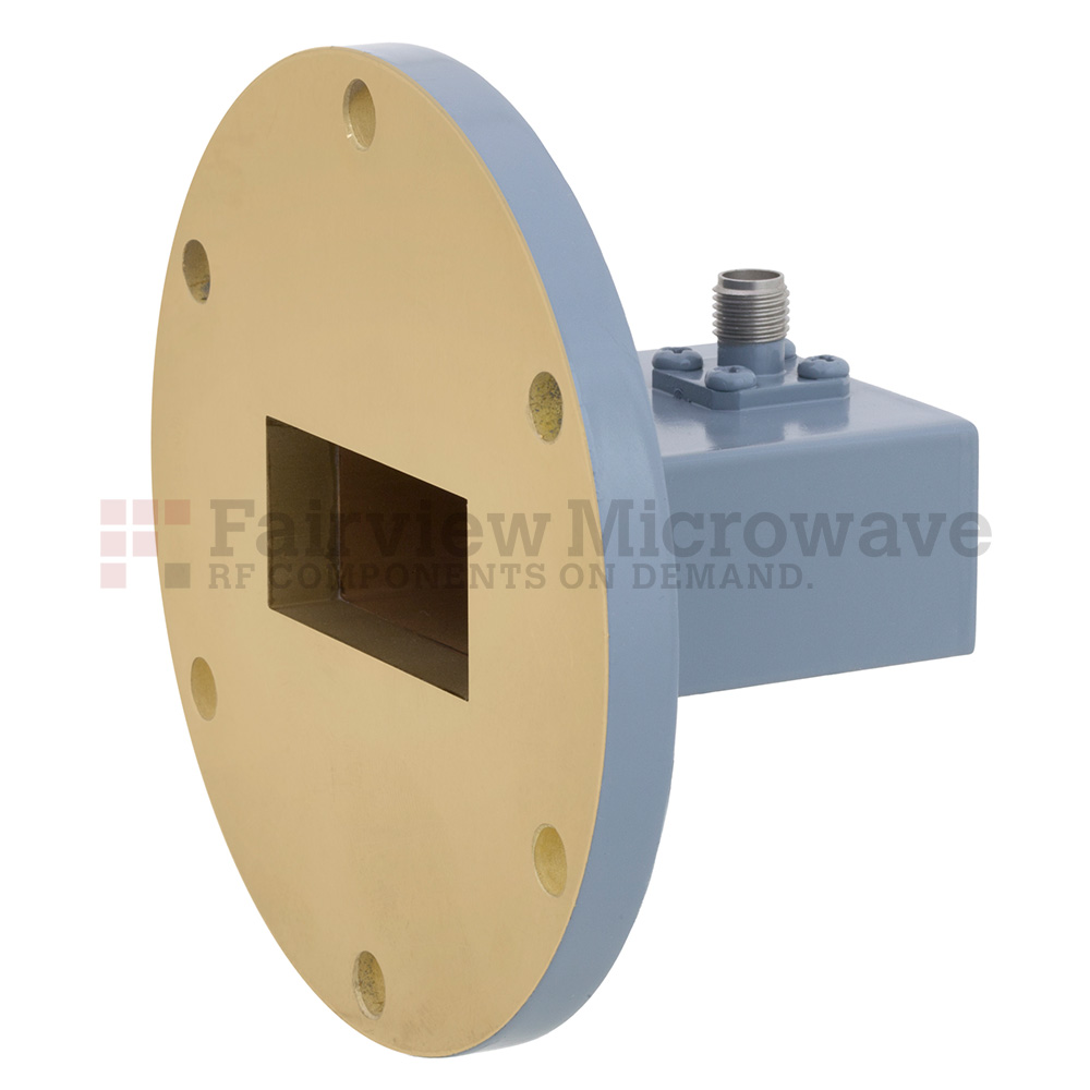 WR-137 to SMA Female Waveguide to Coax Adapter UG-344/U Round Cover Flange With 5.85 GHz to 8.2 GHz Frequency Range For C Band