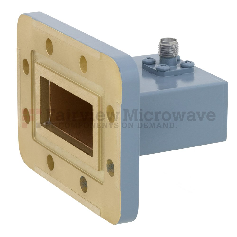 WR-137 to SMA Female Waveguide to Coax Adapter CPR-137G Grooved Flange With 5.85 GHz to 8.2 GHz Frequency Range For C Band