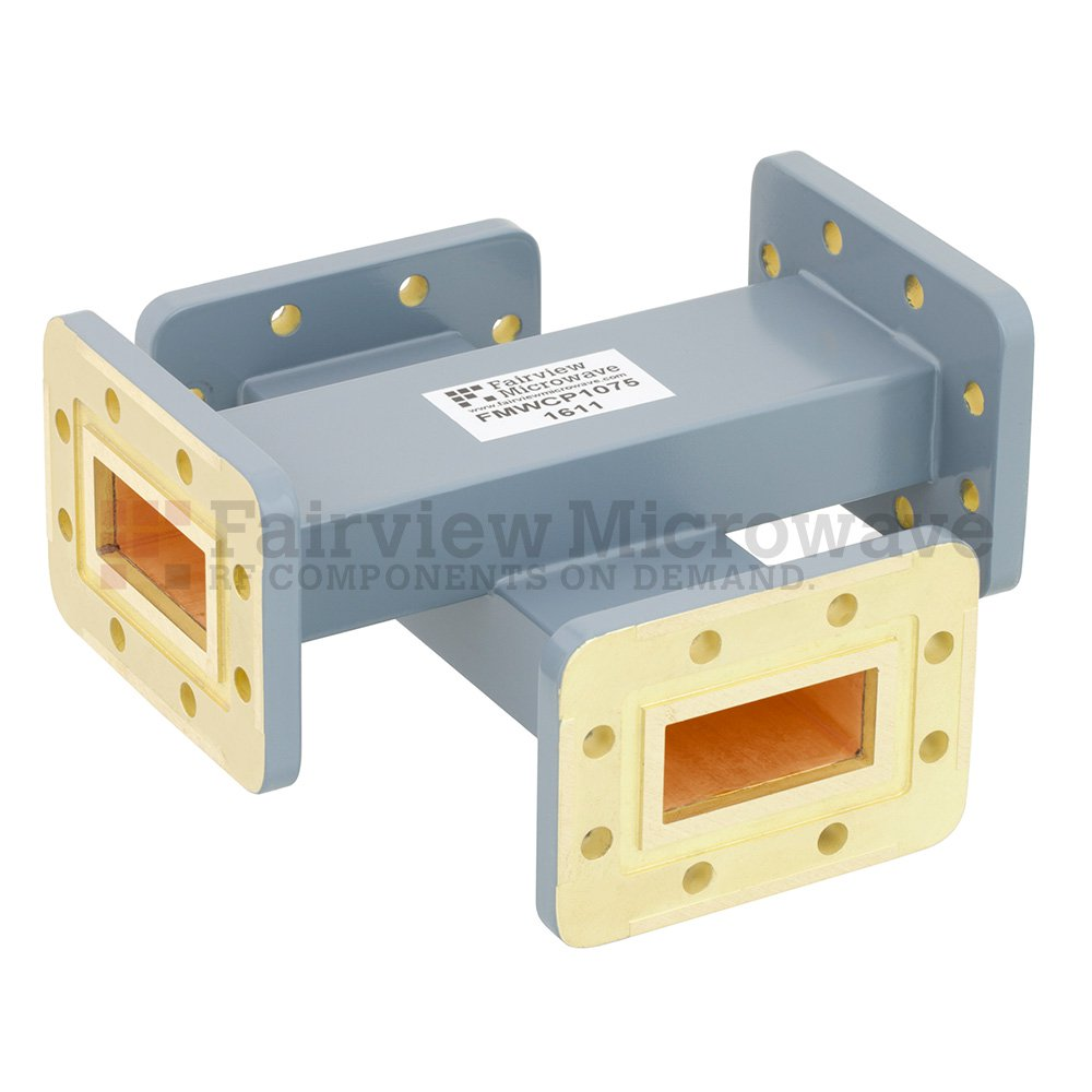 20 dB WR-137 Waveguide Crossguide Coupler with CPR-137G Flange from 5.85 GHz to 8.2 GHz in Copper Alloy