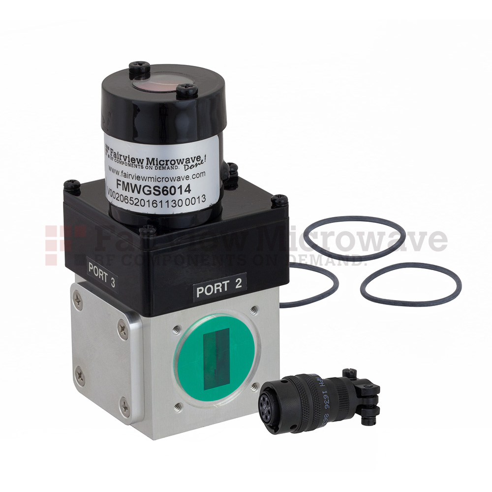 WR-75 Waveguide Electromechanical Relay Latching Switch SPDT 15 GHz Max Frequency, 3,500 Watts X, Ku Band Square Cover Flange