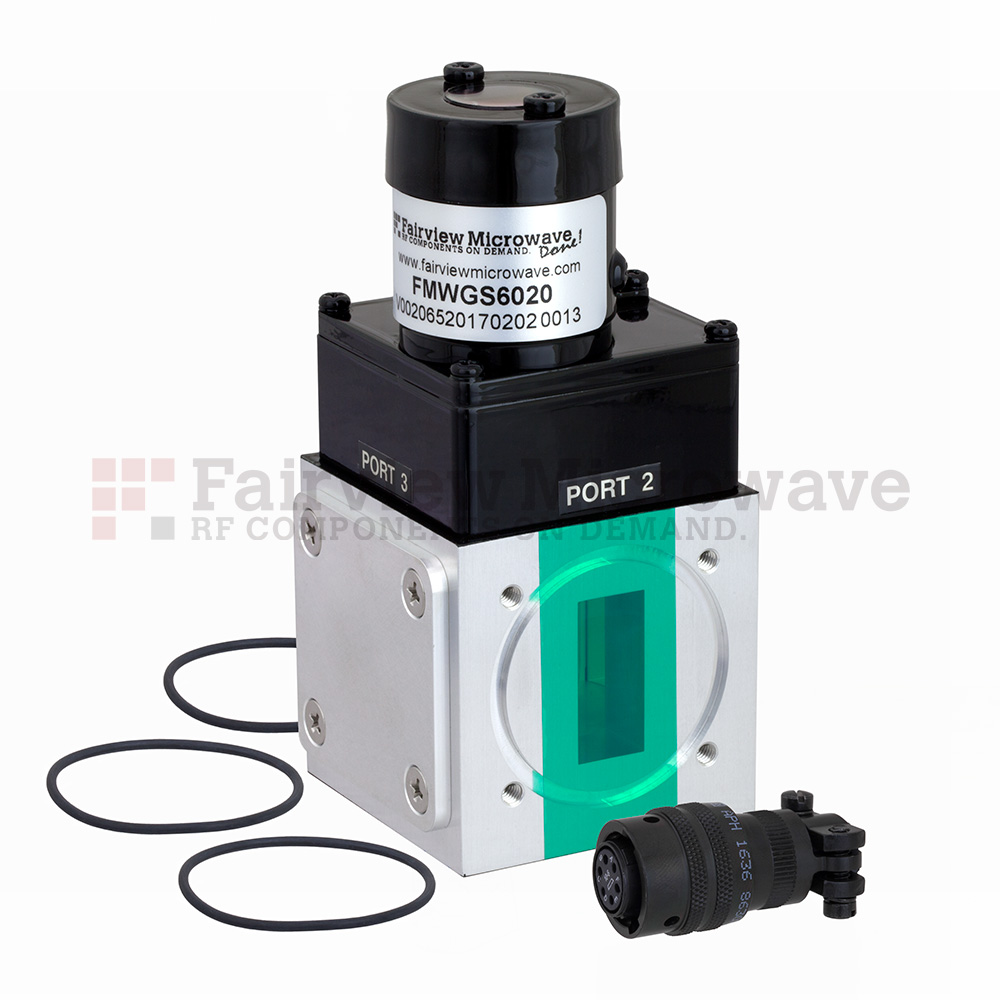 WR-112 Waveguide Electromechanical Relay Latching Switch SPDT 10 GHz Max Frequency, 7,000 Watts X Band UG-51/U Square Cover Flange