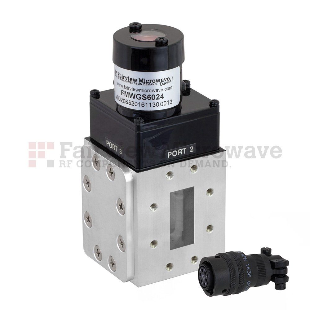 WR-137 Waveguide Electromechanical Relay Latching Switch SPDT 8.2 GHz Max Frequency, 12,000 Watts C Band CPR-137F Flange