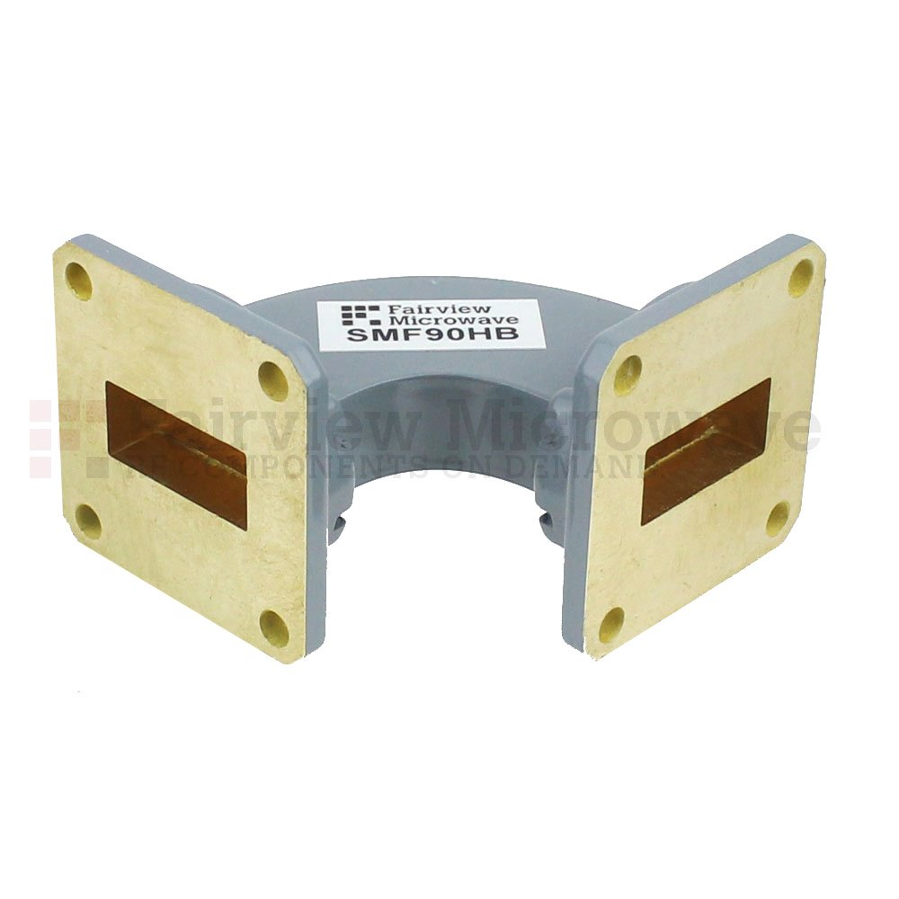 WR-62 Details about  /Waveline 733-1 12.4 to 18 GHz 90° Waveguide H Bend Elbow