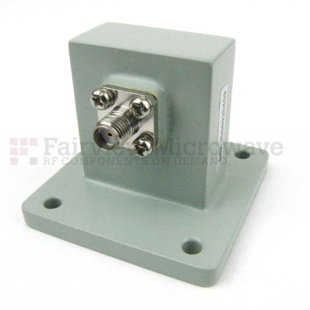 WR-112 to SMA Female Waveguide to Coax Adapter UBR84 Flange With 7.05 GHz to 10 GHz Frequency Range For X Band