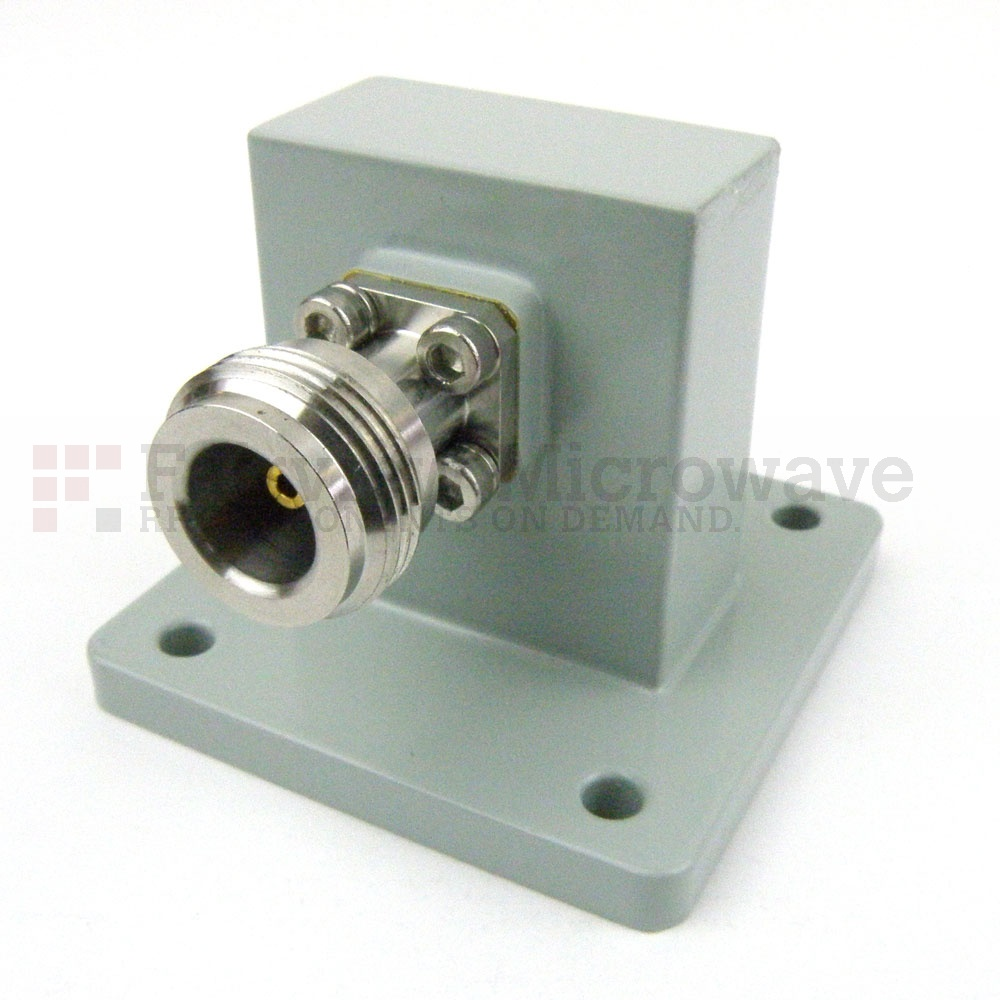 WR-112 to N Female Waveguide to Coax Adapter UBR84 Flange With 7.05 GHz to 10 GHz Frequency Range For X Band