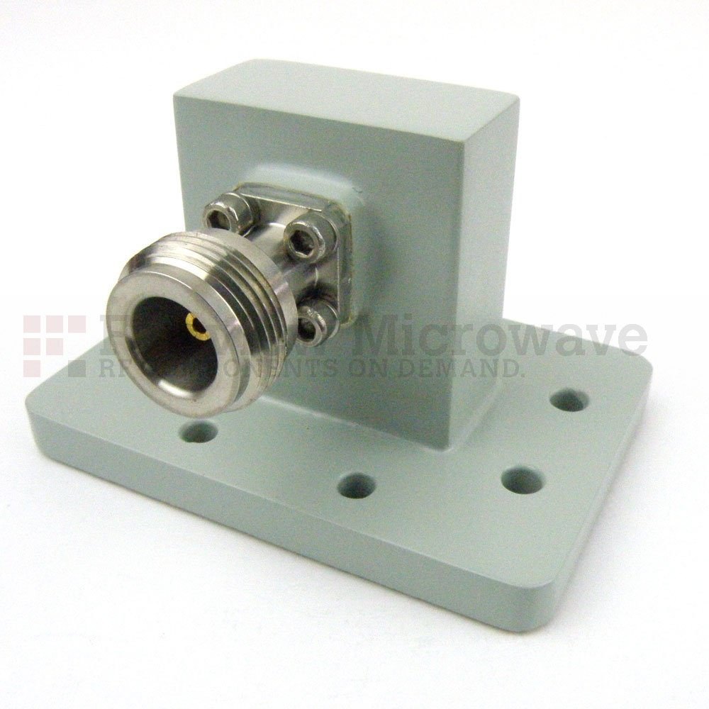 WR-112 to N Female Waveguide to Coax Adapter PDR84 Flange With 7.05 GHz to 10 GHz Frequency Range For X Band