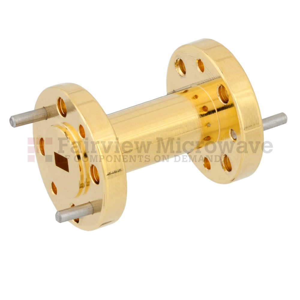 WR-12 to WR-15 Waveguide Transition 1 Inch Length Using UG-387/U to UG-385/U Flange