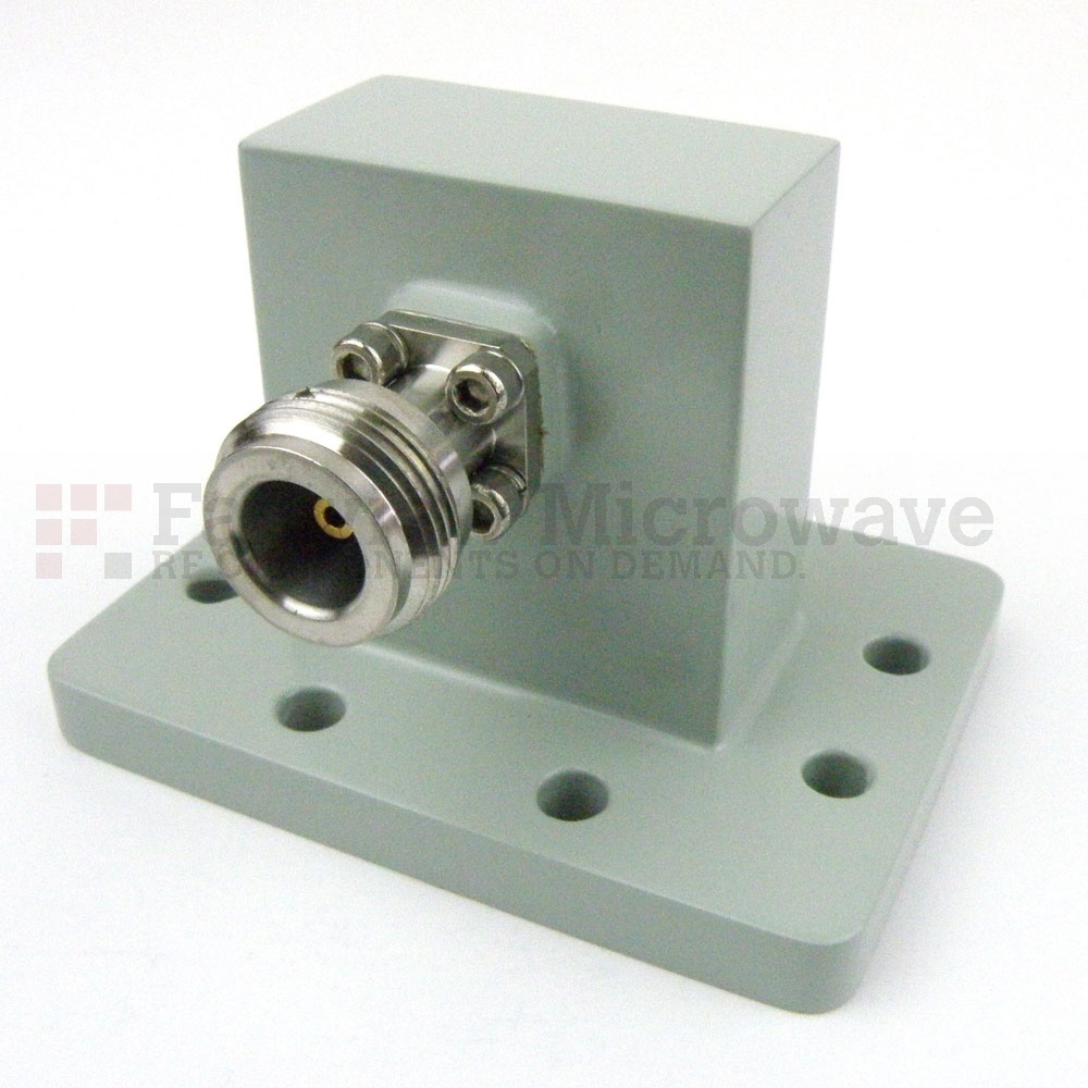 WR-137 to N Female Waveguide to Coax Adapter UDR70 Flange With 5.85 GHz to 8.2 GHz Frequency Range For C Band