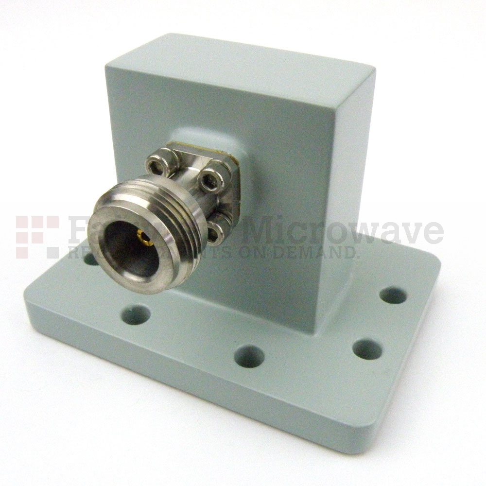 WR-137 to N Female Waveguide to Coax Adapter PDR70 Flange With 5.85 GHz to 8.2 GHz Frequency Range