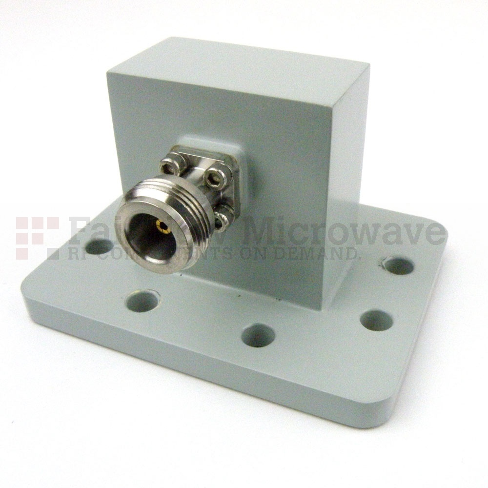 WR-159 to N Female Waveguide to Coax Adapter PDR58 Flange With 4.9 GHz to 7.05 GHz Frequency Range