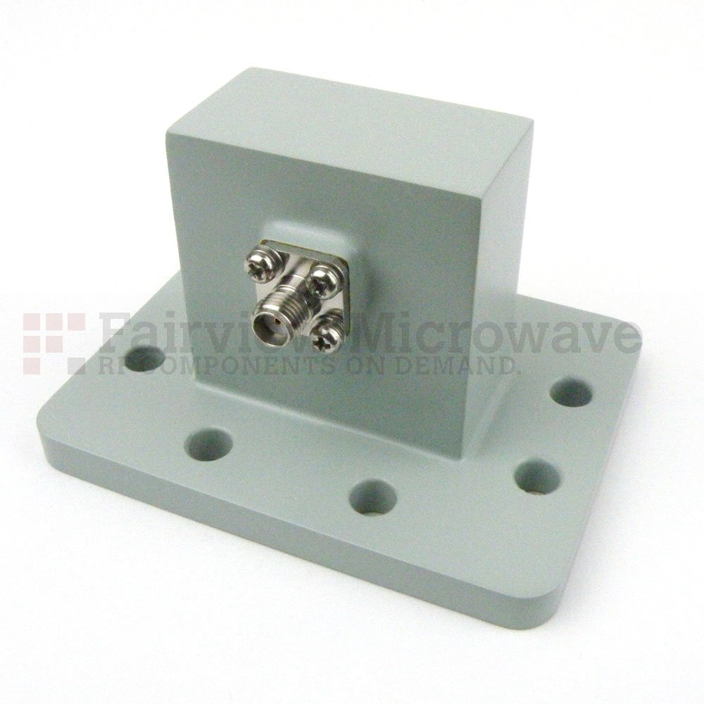 WR-159 to SMA Female Waveguide to Coax Adapter UDR58 Flange With 4.9 GHz to 7.05 GHz Frequency Range