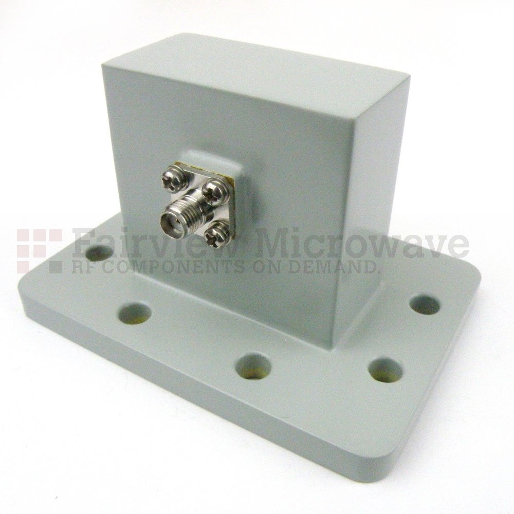 WR-187 to SMA Female Waveguide to Coax Adapter UDR48 Flange With 3.85 GHz to 5.85 GHz Frequency Range