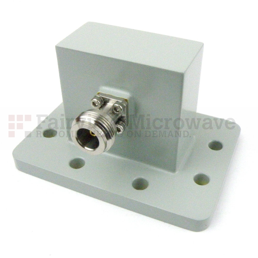 WR-187 to N Female Waveguide to Coax Adapter UDR48 Flange With 3.85 GHz to 5.85 GHz Frequency Range