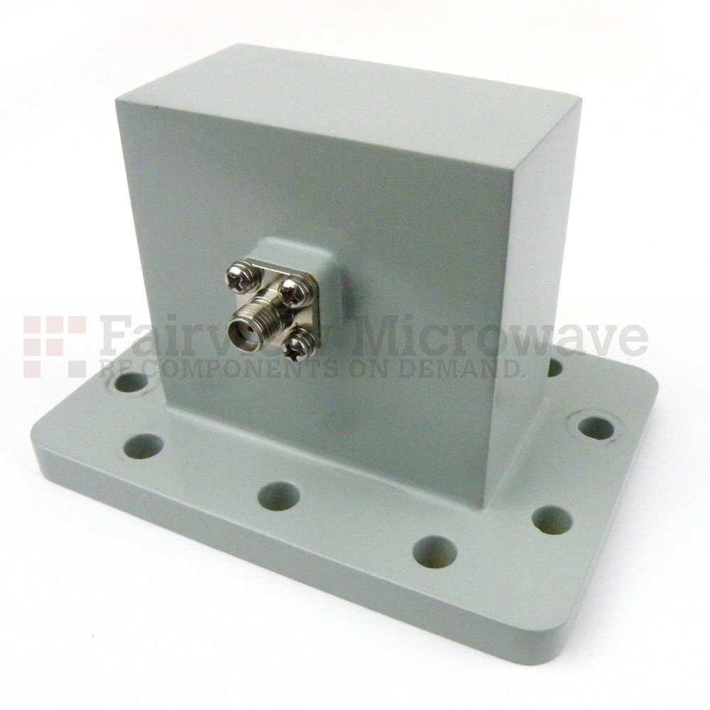 WR-229 to SMA Female Waveguide to Coax Adapter UDR40 Flange With 3.3 GHz to 4.9 GHz Frequency Range