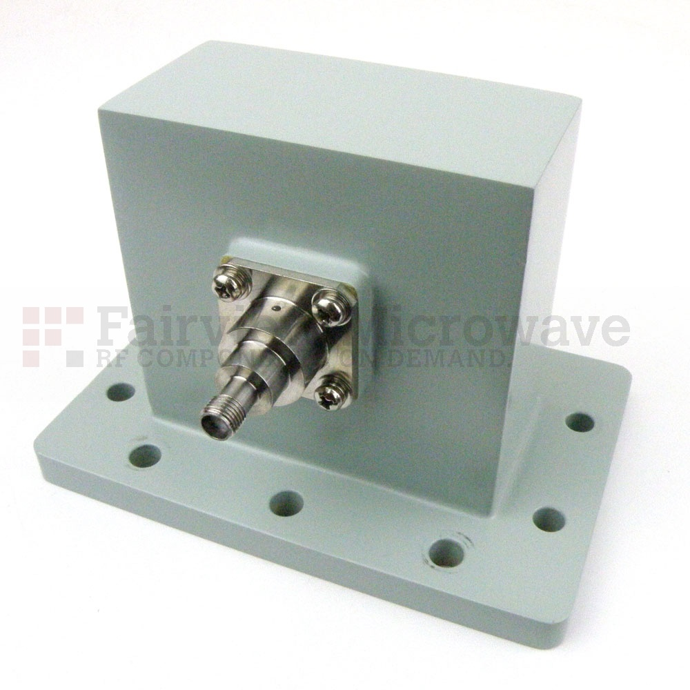 WR-284 to SMA Female Waveguide to Coax Adapter UDR32 Flange With 2.6 GHz to 3.95 GHz Frequency Range