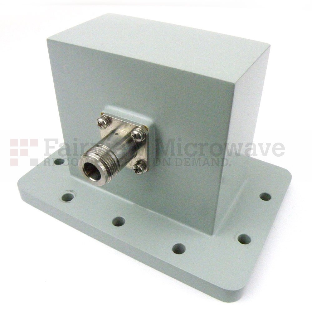 WR-340 to N Female Waveguide to Coax Adapter UDR26 Flange With 2.2 GHz to 3.3 GHz Frequency Range