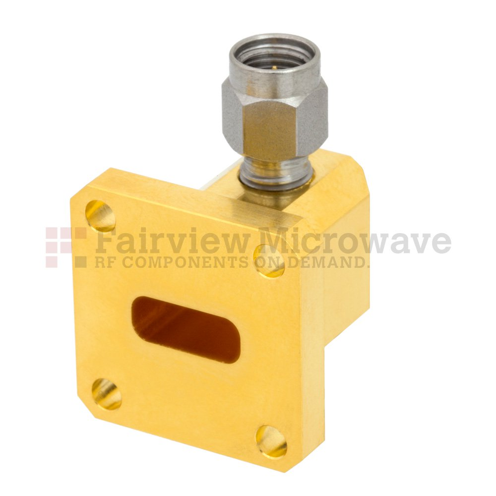 WR-42 to 2.92mm Male Waveguide to Coax Adapter UG-595/U Square Cover Flange With 18 GHz to 26.5 GHz Frequency Range For K Band