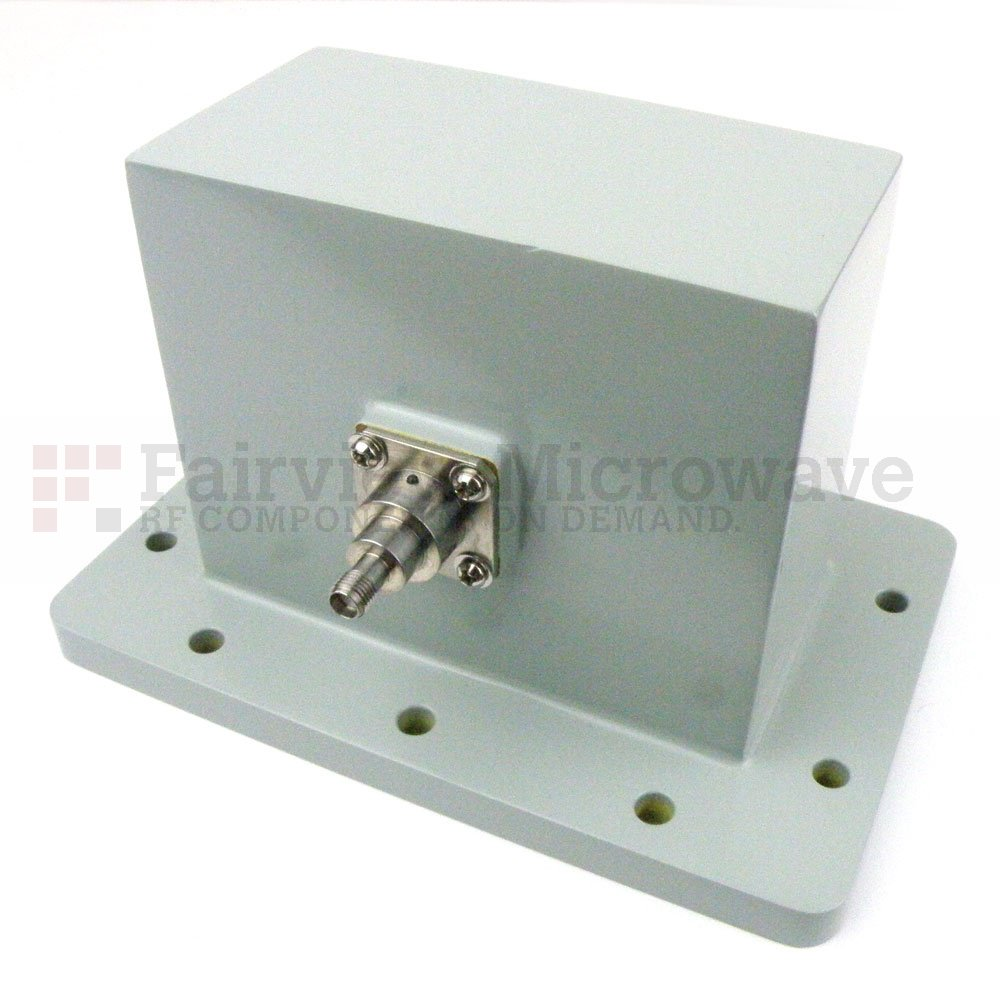 WR-430 to SMA Female Waveguide to Coax Adapter UDR22 Flange With 1.7 GHz to 2.6 GHz Frequency Range