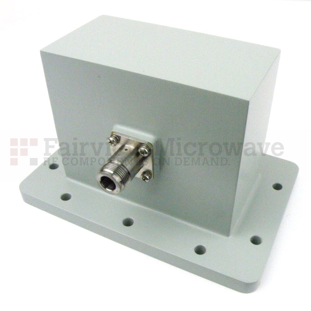 WR-430 to N Female Waveguide to Coax Adapter UDR22 Flange With 1.7 GHz to 2.6 GHz Frequency Range For L-S Band