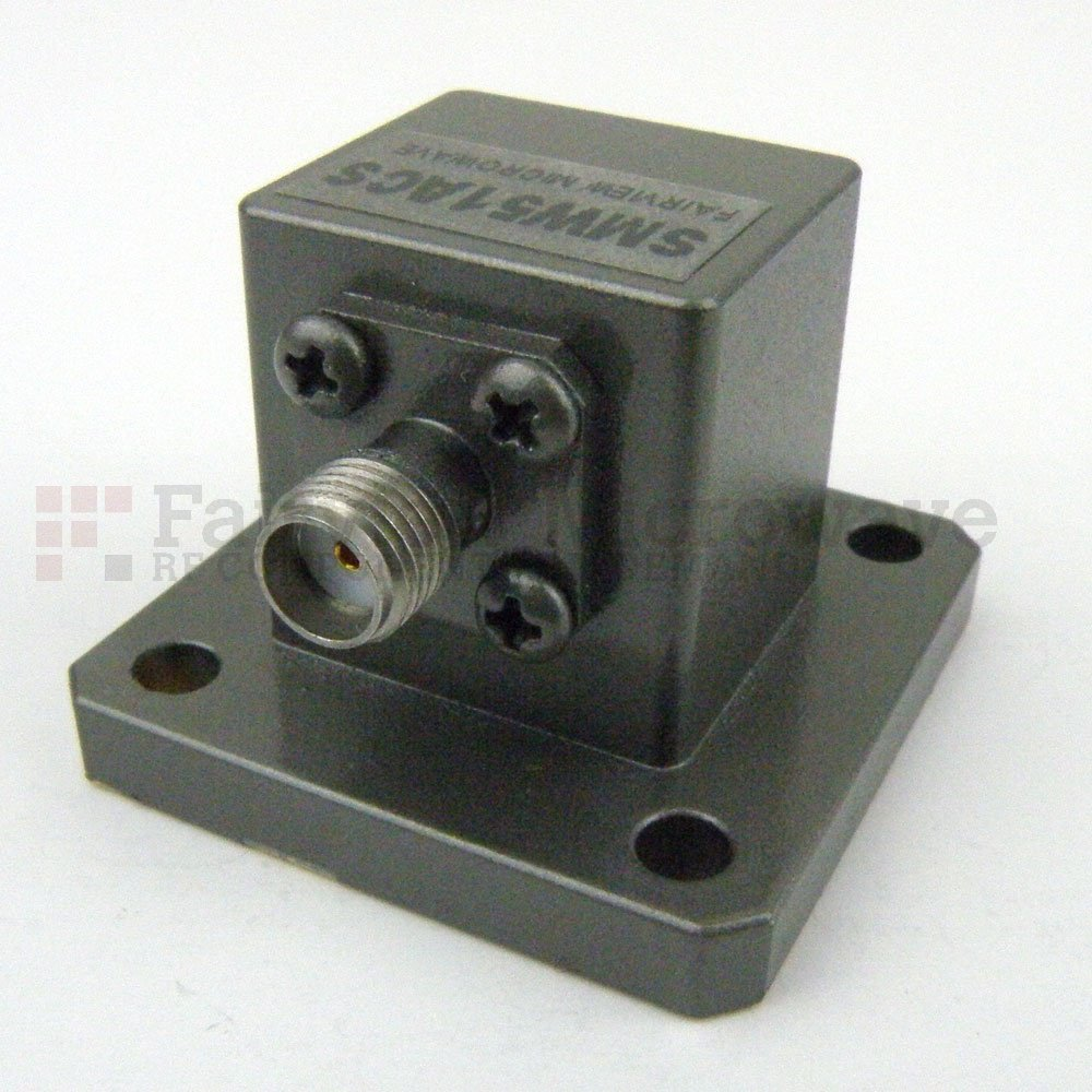WR-51 to SMA Female Waveguide to Coax Adapter Square Cover Flange With 15 GHz to 22 GHz Frequency Range