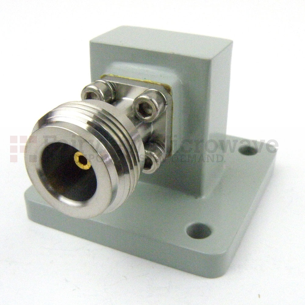 WR-75 to N Female Waveguide to Coax Adapter Square Cover Flange With 10 GHz to 15 GHz Frequency Range